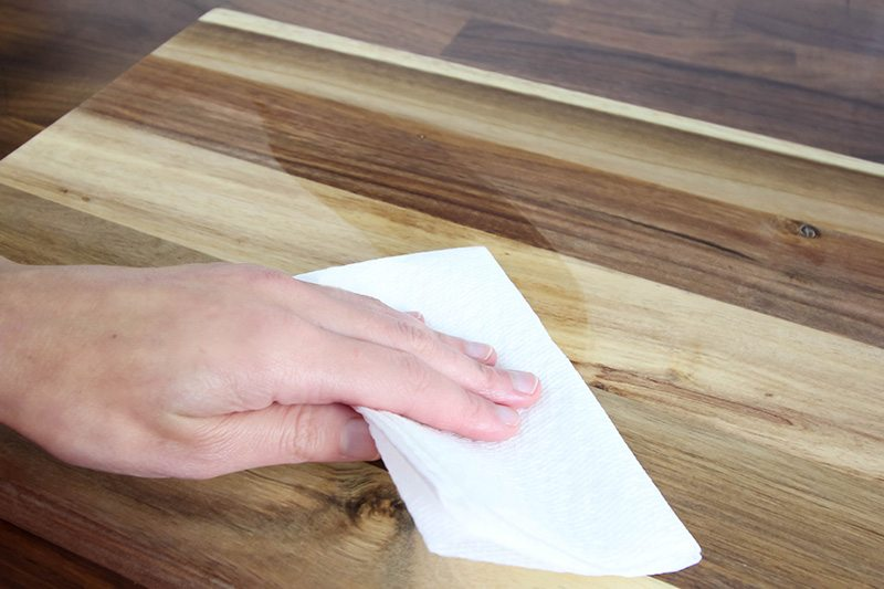 How To Clean And Oil A Wooden Cutting Board The Creek Line House