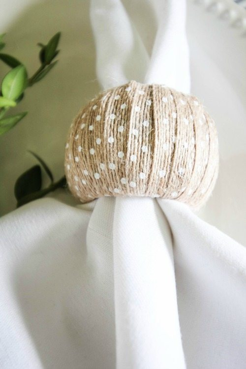 Ribbon Wrapped Napkin Rings The Creek Line House