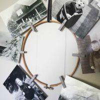 Embroidery Hoop Photo Wreath