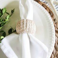 Ribbon-Wrapped Napkin Rings
