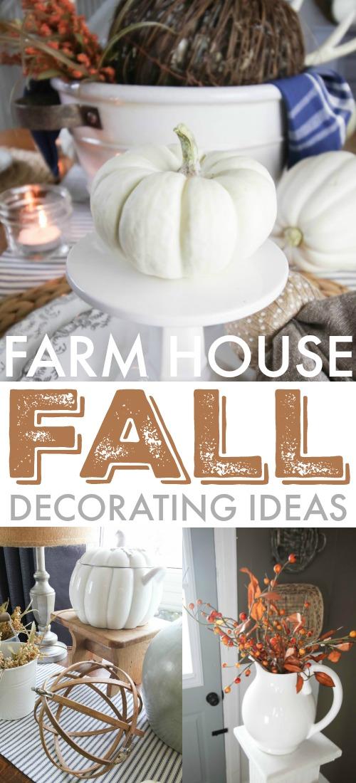 Easy farm house style fall and autumn decorating ideas!