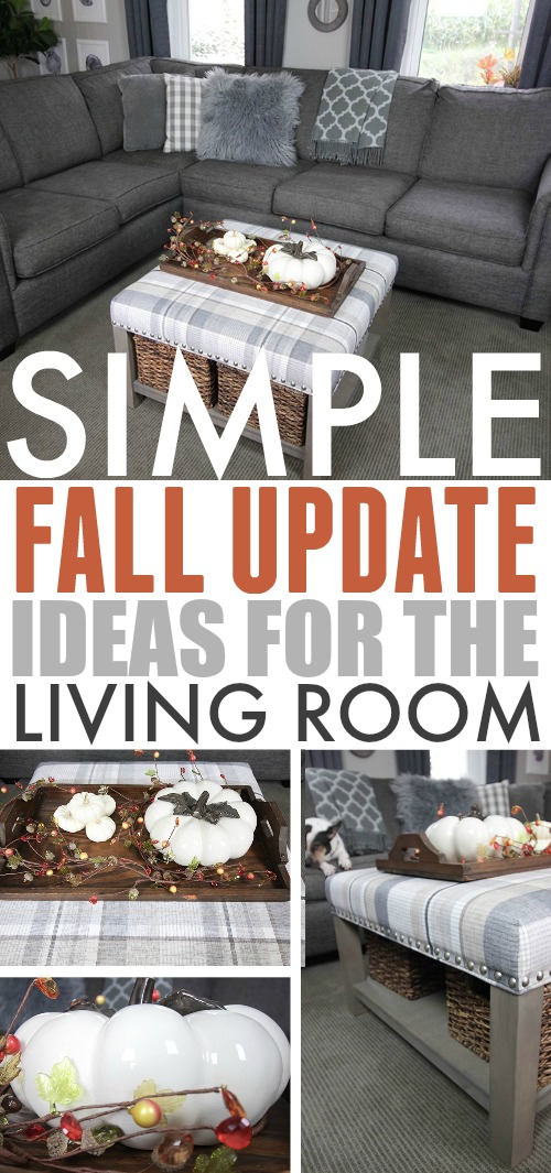 Fall decorating ideas for the living room.