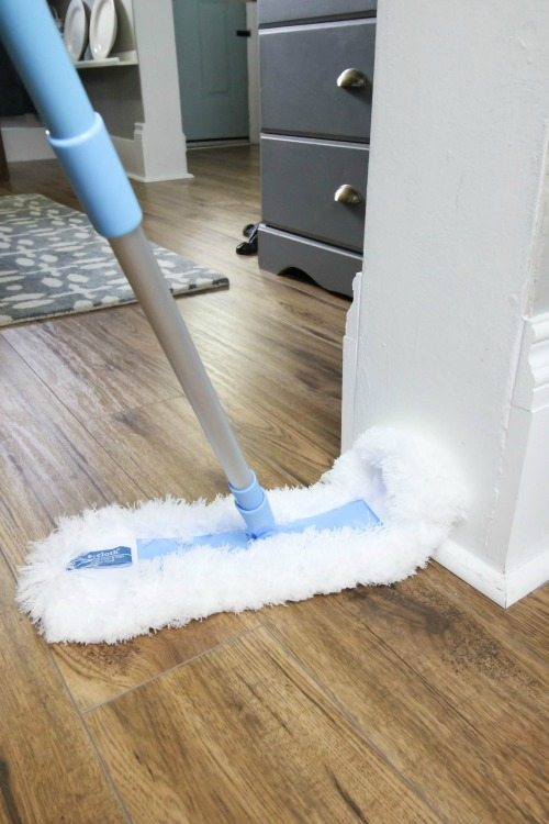 I often hear from readers asking me how to clean laminate floors, and as usual, the best solution is much easier than you might think!