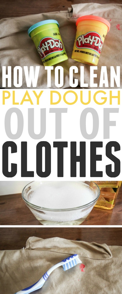 If you have kids, there's a good chance that you'll need to know how to clean play dough out of clothes at some point. Here's how to do it!