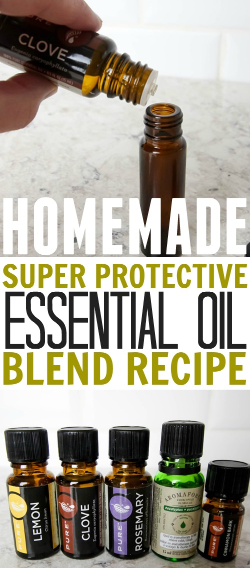 Make your own DIY protective essential oil blend for a lot less money! Here's the recipe!