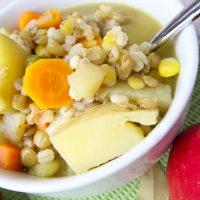 Lentil Barley Stew With Apples