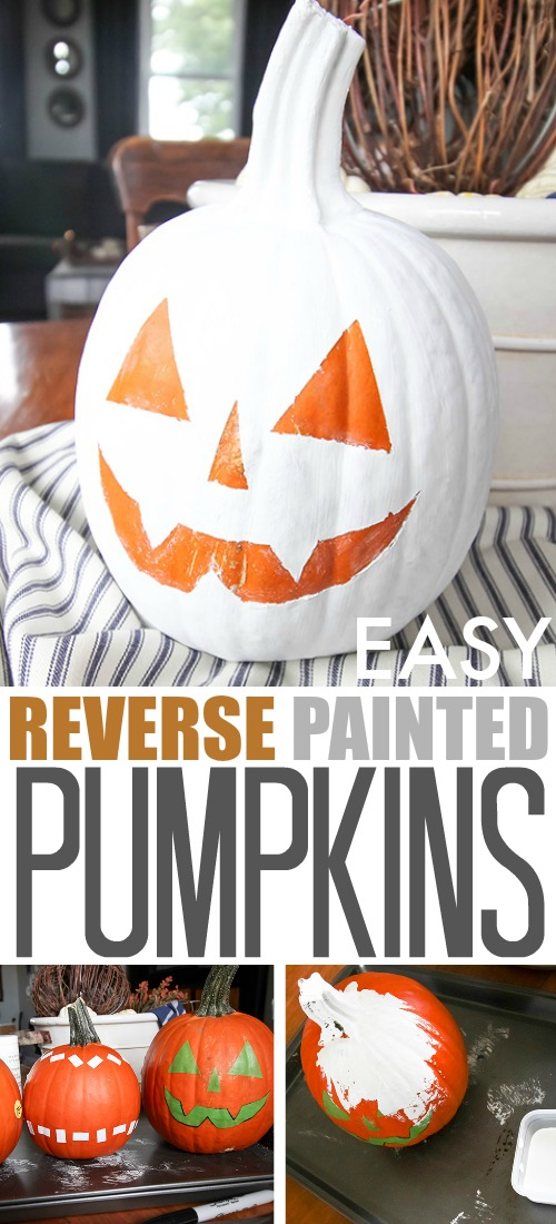 easy reverse painted pumpkins the creek line house