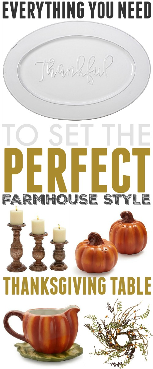Everything you'll need to create a beautiful farm house Thanksgiving table setting that you'll be able to enjoy over and over again for years to come!