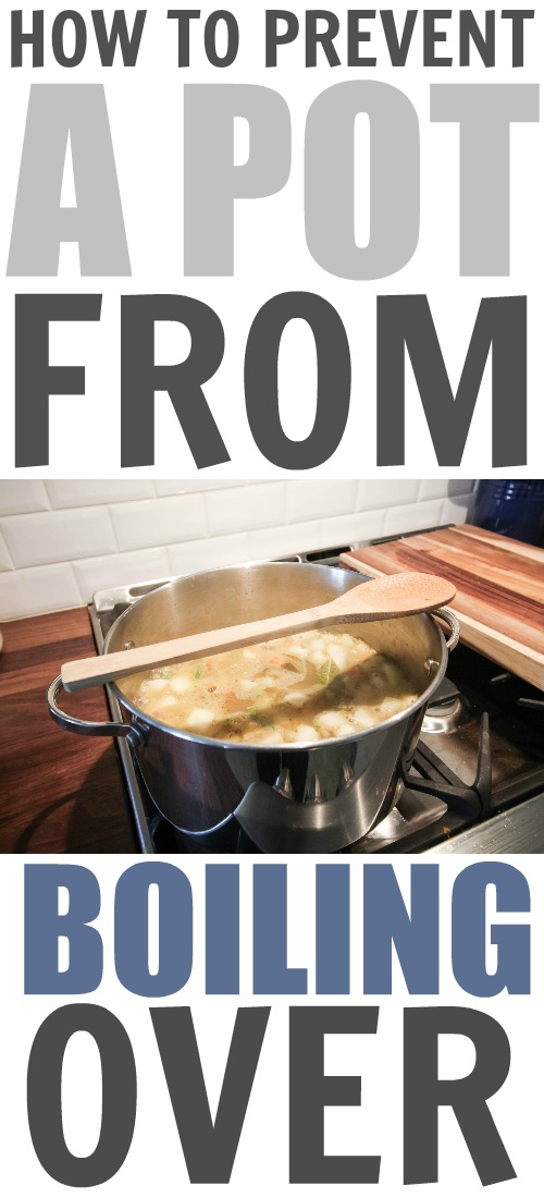 Keep your stove cleaner and make your time in the kitchen less stressful with the wooden spoon on the pot trick! Here's how to stop pots from boiling over.