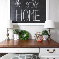 Thrift Store Frame Chalkboard DIY