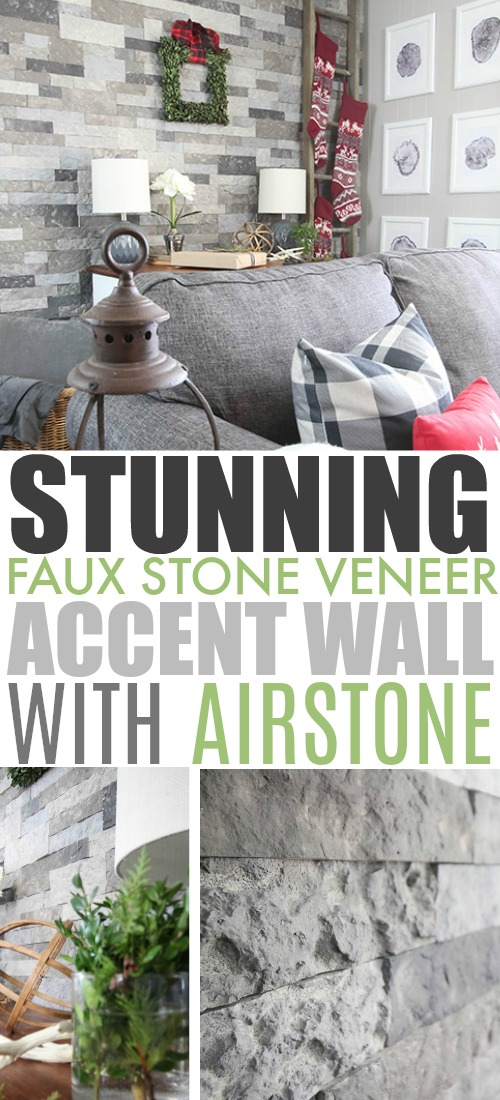 We love our new faux stone veneer wall from AirStone! This stuff is so easy to install and the final result is just stunning!