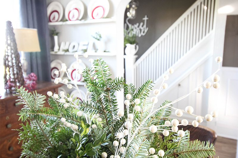 Gathering greenery from your backyard for Christmas decor is one of my favourite little tricks for making my Christmas decorating ideas really come to life!