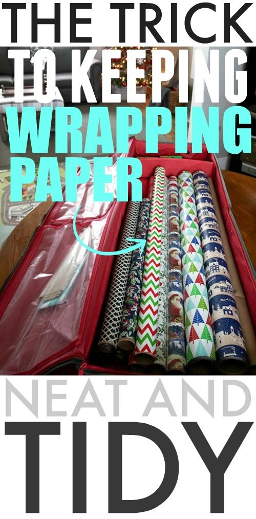 Unclutter this Christmas and make wrapping a breeze with this neat and orderly trick to keep wrapping paper from unrolling.