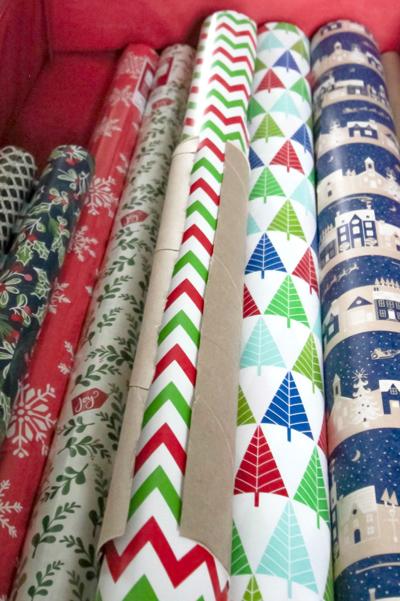Keep Wrapping Paper Tidy - Step 2 Done!