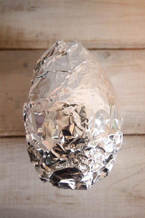 This trick will perfectly ripen your avocado and make it ready for use in about 20 minutes! Wrap in tinfoil.