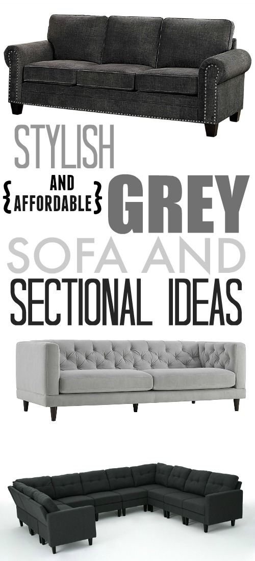 Here are some great, affordable grey sofa options if you've been searching for just the right one for your living room!