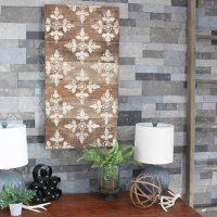 Stencilled Pallet Wood Wall Art