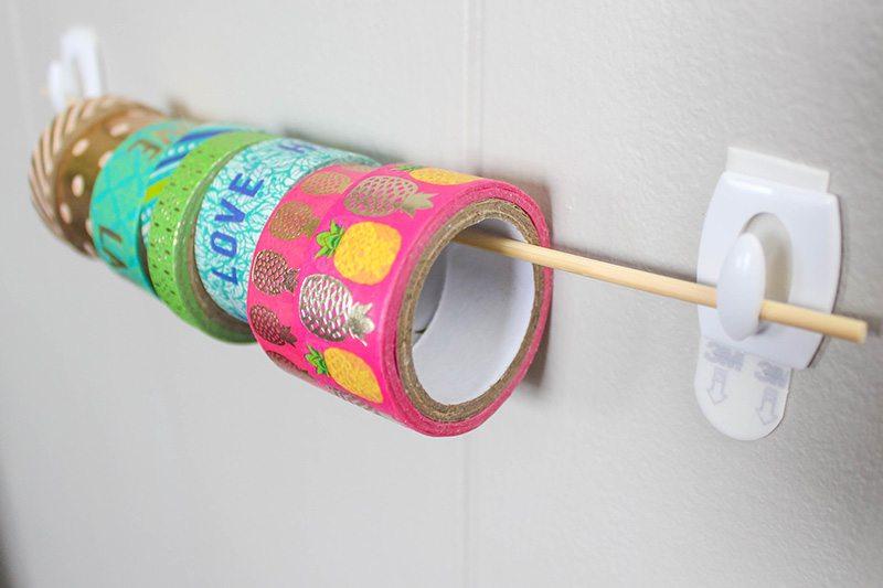 Uses for Command Hooks -Hang rolls of tape