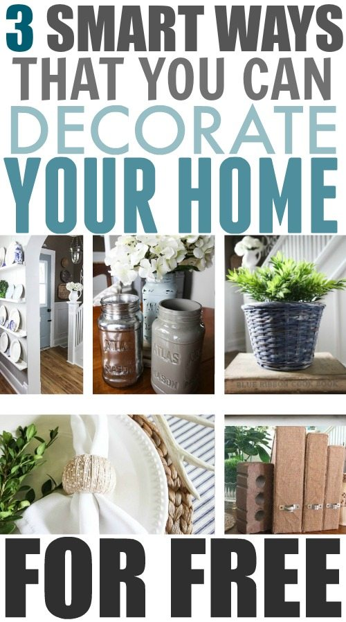 You don't have to spend a penny to create a beautiful, cozy home! Here are some of my very favourite ways to decorate for free!