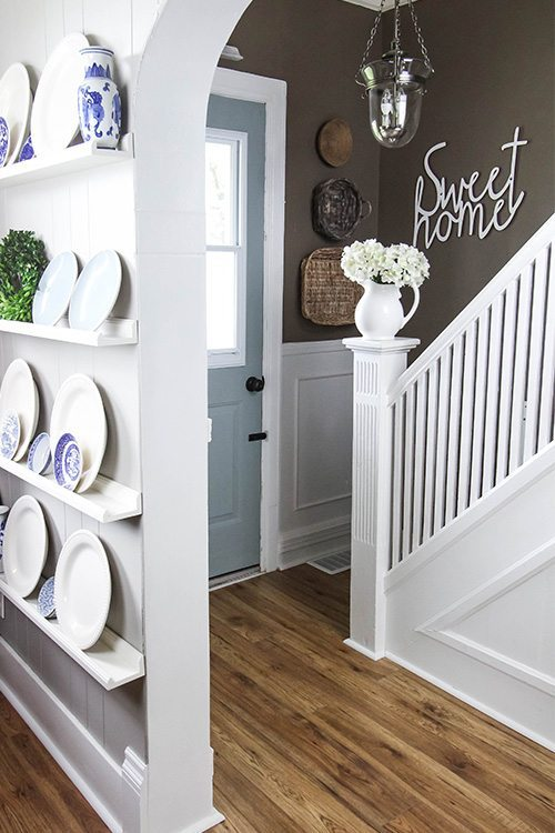 My very favourite ways to decorate for free! Painted Door.