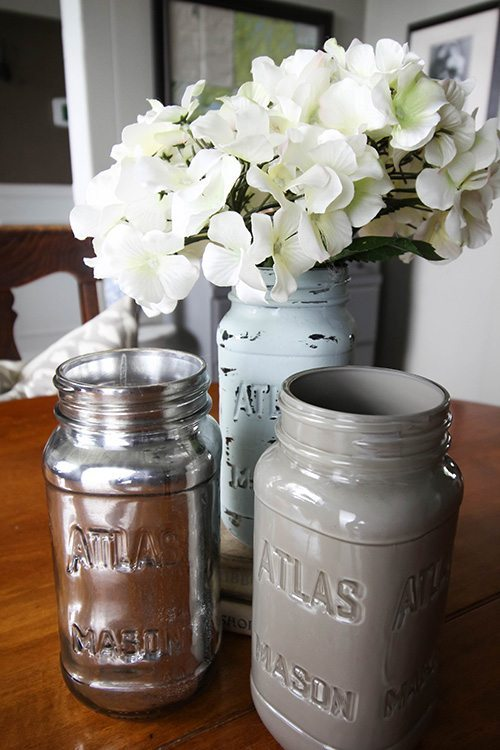 My very favourite ways to decorate for free! Painted Mason Jars