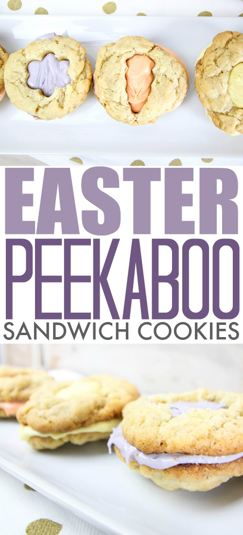 If you're looking for an easy, cute Easter cookie idea, these Easter Peekaboo Sandwich Cookies can't be beat! You won't believe how easy these adorable cookies are to put together!