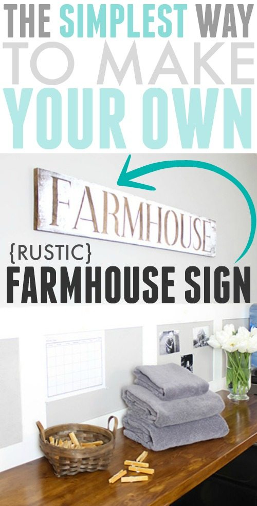Try this DIY stencilled farmhouse sign for an easy way to bring a big dose of rustic farmhouse style to any part of your home!