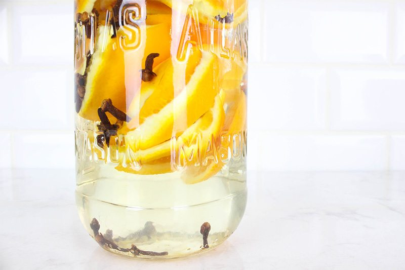 Try making some of this DIY scented cleaning vinegar if you'd like to try cleaning more naturally with vinegar in your home, but don't like the smell of regular vinegar!