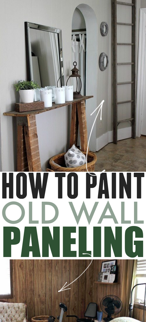 Are you a little embarrassed by a room or two in your home? You know the one. The one with the old wood paneling. Don't be ashamed, let me fix that old 70's style and modernize your home by showing you how to paint wall paneling so it actually looks good!