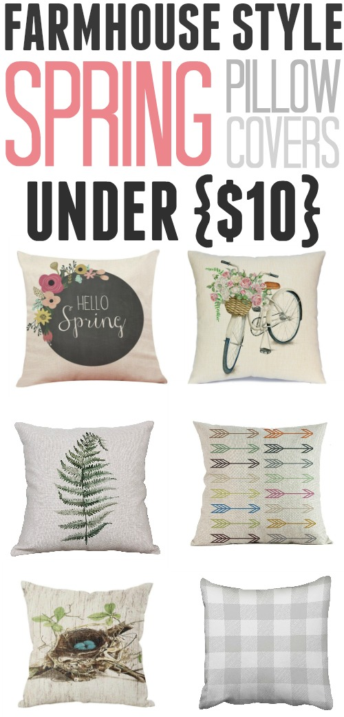 Updating the pillows in your living room is a great, easy way to make the whole space feel fresh and new. Check out these great, stylish spring pillow covers that you can pick up for less than $10 each!