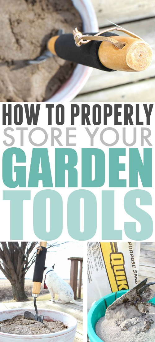 Properly storing garden tools can help them last much longer and work much more effectively and it doesn't require some big, fancy, expensive racking system. Check out this clever little solution for storing your favourite small hand tools for the garden!