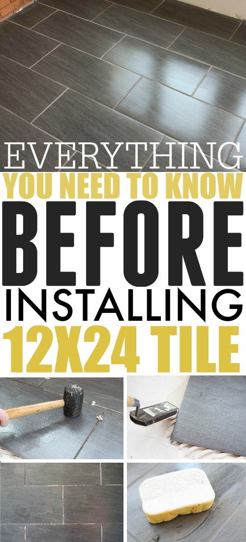 Installing 12x24 tile can be a little tricky compared to smaller tiles, but with a little planning, and a few tricks up your sleeve, this can be a great DIY project even if you don't have a ton of tiling experience.