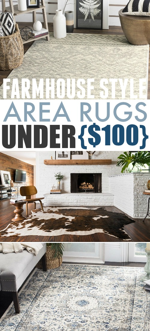 These farmhouse style area rugs are perfect for giving a room a completely new look on a budget, or as a jumping off point for a whole new room design!