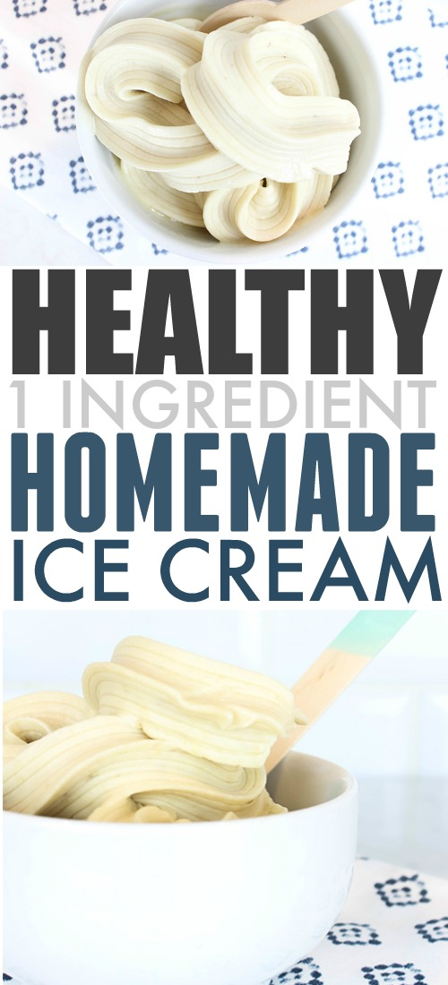 If you're trying to eat healthier, then you need to know about this healthy 1 ingredient ice cream recipe! Perfect to enjoy all summer long!