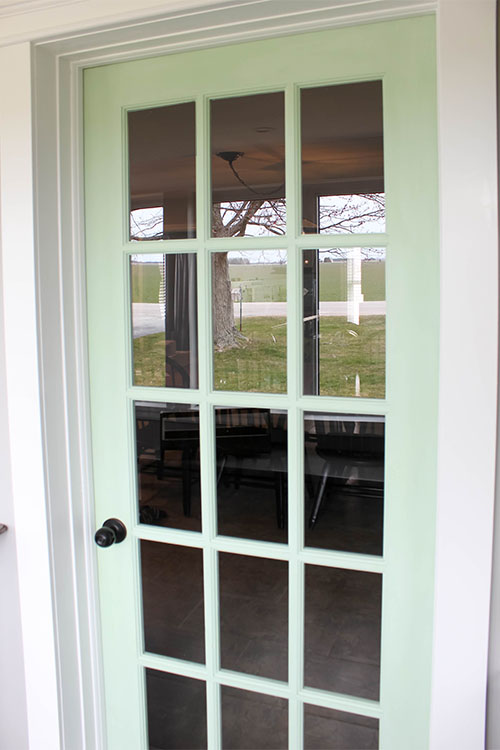 If You Want To Paint A French Door In Your Home, This Is Definitely The Way  To Go About It.