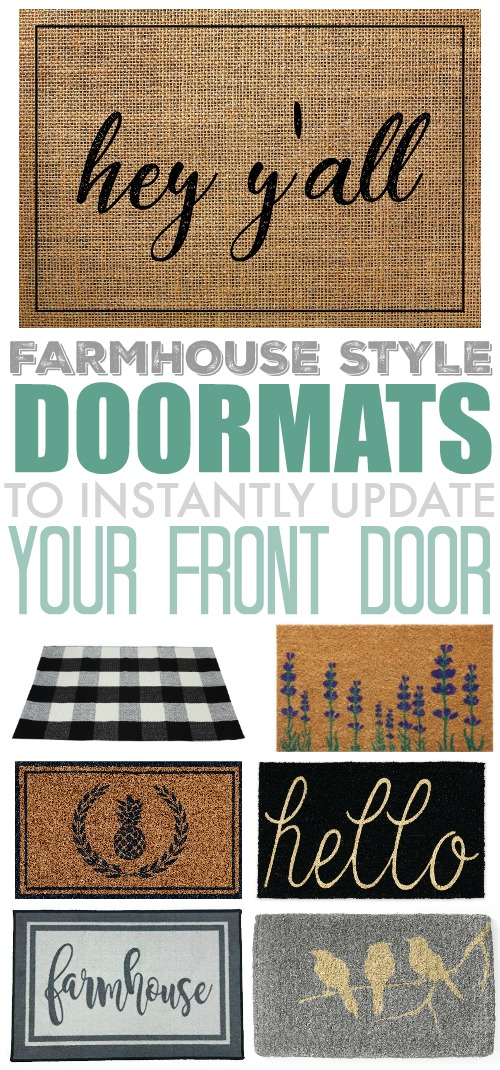 A fun farmhouse style doormat is a great way to upgrade your entryway and a nice way to decorate for the current season as well! Here are some fun ones I found to instantly update any porch or front step!