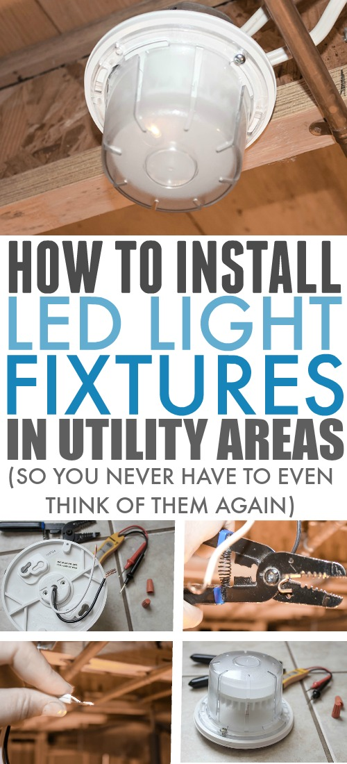 LED lights are about a million times better than anything else for so many areas of your home. Here's how to install LED light fixtures quickly and easily to replace your old inefficient light fixtures.