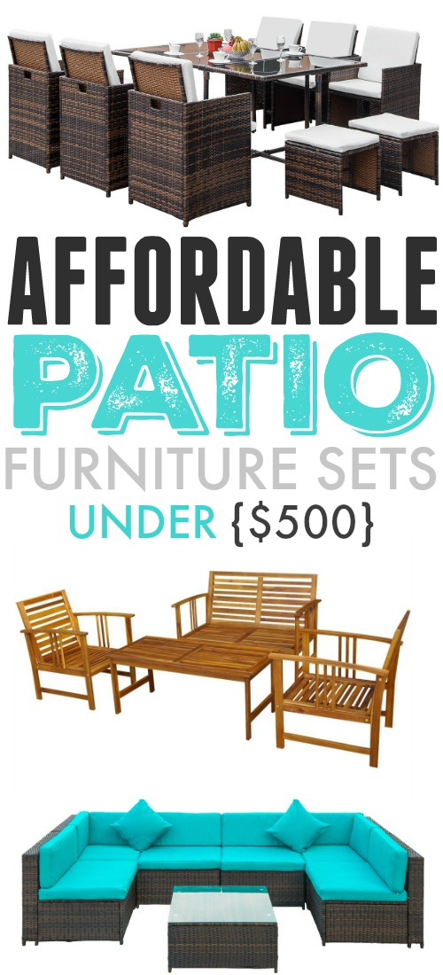Update your patio, deck, or porch this summer with these affordable patio furniture ideas! You can have a beautiful outdoor space and still have enough leftover to throw a big BBQ party for the whole neighbourhood!