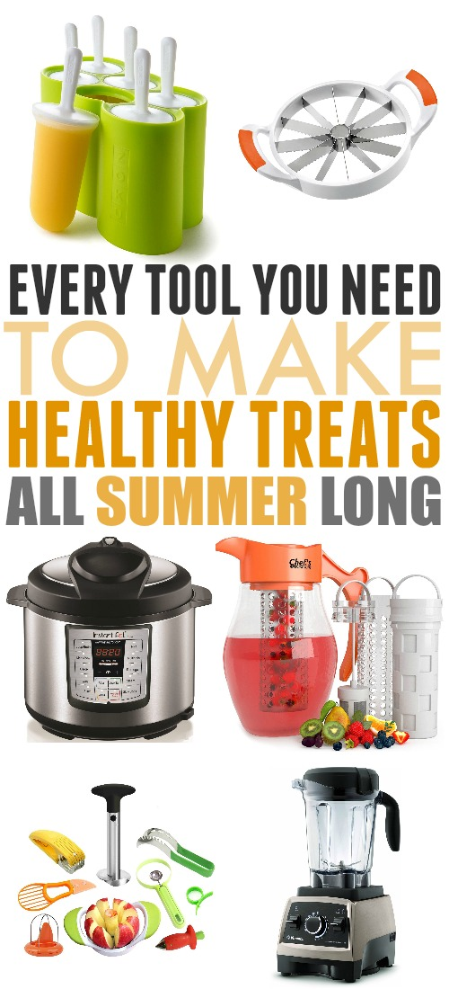Summer should be delicious, but that doesn't mean that it can't be healthy as well! Here are some fun tools to try out this summer to help you make healthy treats all season long!