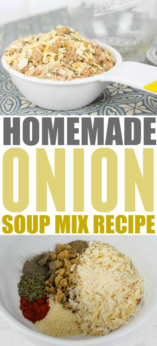 How to make your own homemade onion soup mix so you can always have it in the house and ready to go even if you run out of those trusty little packets!