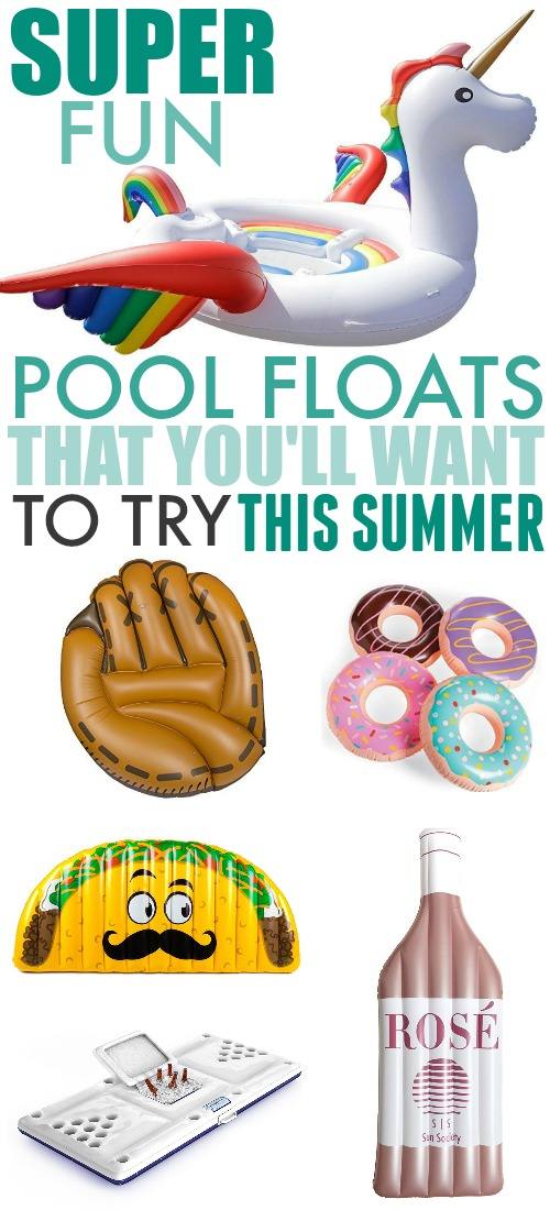 A sunny summer day at the beach or by the pool definitely calls for a few great pool floats. They're fun for the kids, they're great conversation starters, and of course they're perfect to make sure everyone has a nice relaxing time!
