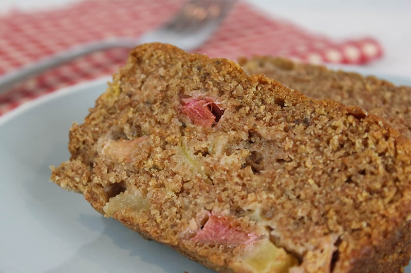 If your family loves rhubarb, then this homemade rhubarb bread is sure to make it into your early summer baking rotation year after year!