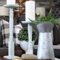 DIY Spindle Candle Holders