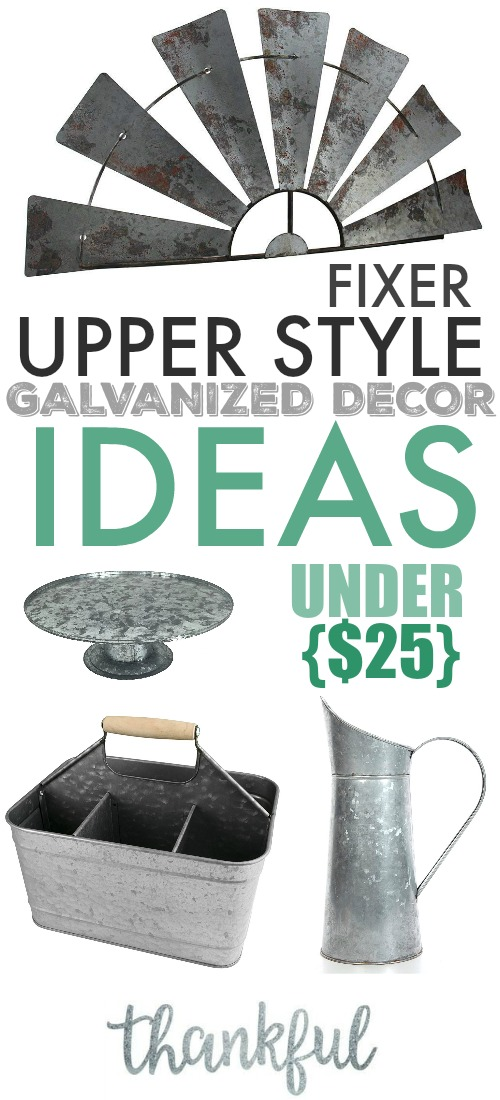 If you love a rustic farmhouse look for your home, these Fixer Upper style galvanized decor ideas will definitely provide you with some inspiration!