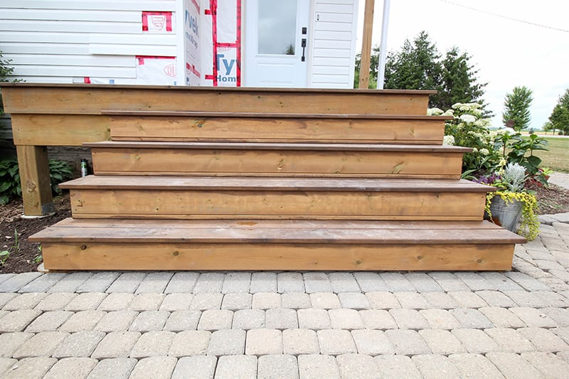 We've been working on adding a new side porch on to the house this summer! Read on to see the progress we've made with this latest project!