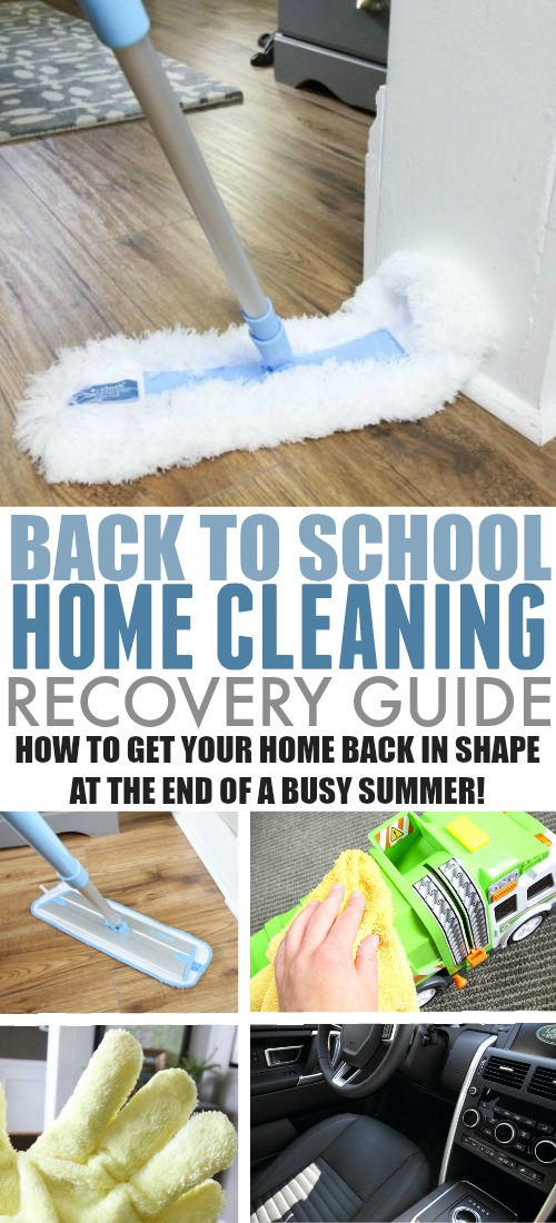 Our home always needs a little tune-up at the end of a busy, exciting summer. If you're in a similar situation when summer is over for your kids, here's your back to school home cleaning recovery guide!
