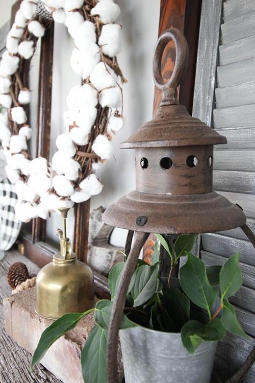 DIY Cotton Ball Wreath - Farmhouse Decor