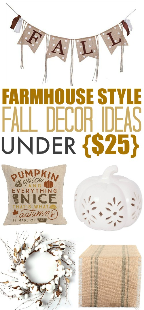 These farmhouse style fall home decor ideas are a great way to welcome fall into your home. Whether you have a real old farmhouse or just like the farmhouse look, this style of fall decor will create the perfect cozy atmosphere!
