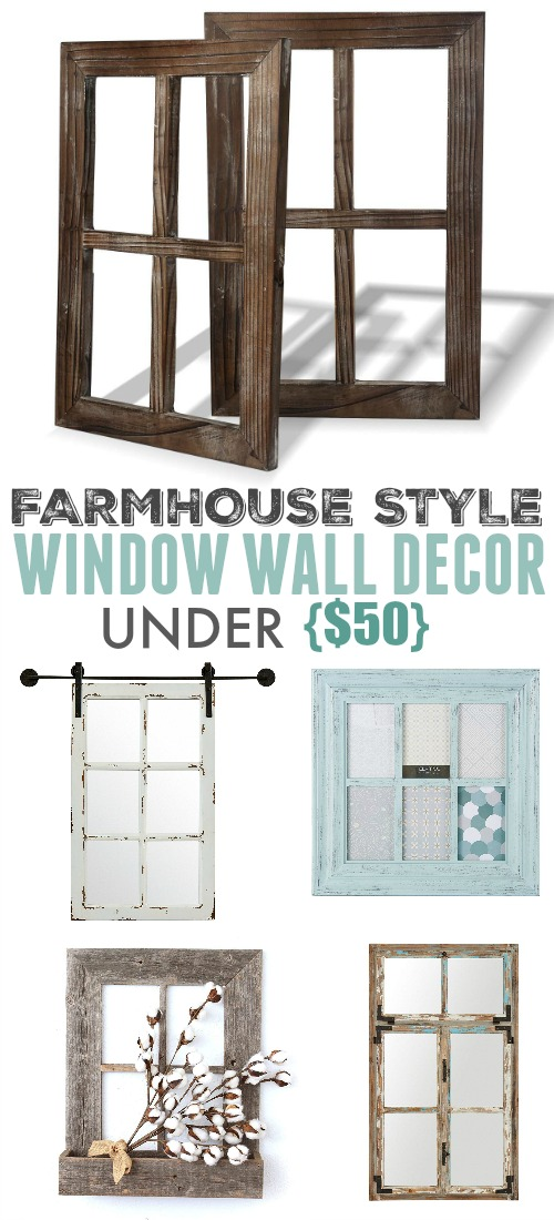 Farmhouse Style Window Wall Decor The Creek Line House