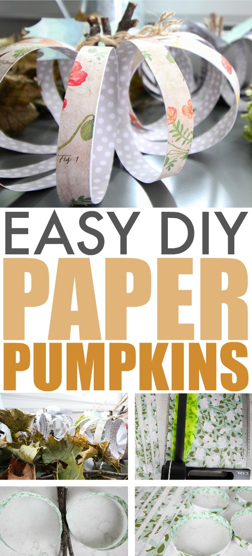 These paper pumpkins are a clever way to decorate your home for fall and they're a great craft to do with the kids as well!